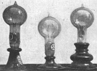 Edison early lightbulb designs