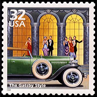 USPS Great Gatsby Style stamp