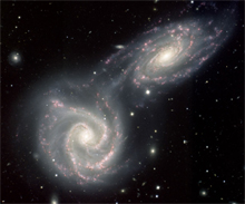 Arp 271 colliding spiral galaxies