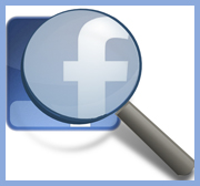 Facebook under magnifier